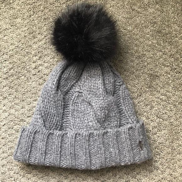3c56a4167 Ralph Lauren Cable Knit Pom Pom Hat